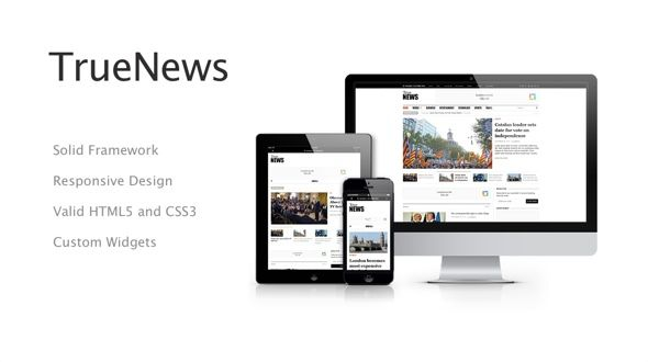 TrueNews – Magazine WordPress Theme