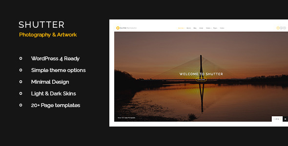 Shutter – Photography & Art WordPress Theme