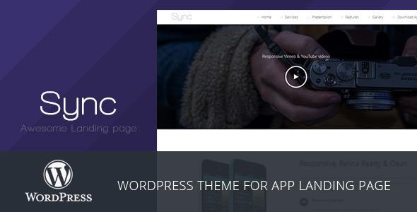 Sync – WordPress App Landing Page