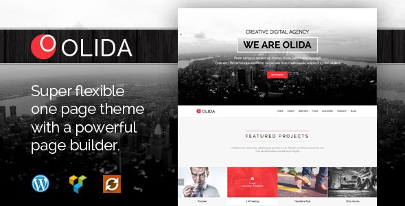 Olida – Creative Parallax One Page WP Theme
