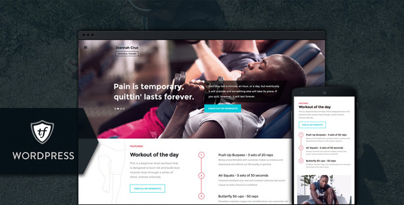 In Shape – Fitness WordPress Theme