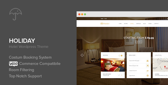 Holiday – Hotel WordPress Theme