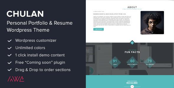 Chulan – Personal Portfolio & Resume Theme
