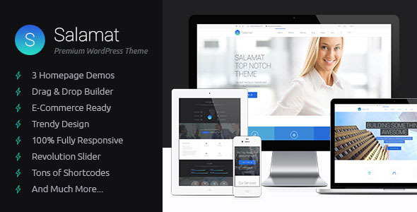 Salamat – Multipurpose WordPress Theme