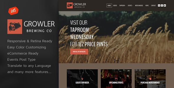 Growler – Brewery WordPress Theme