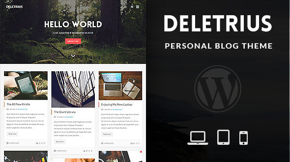 Deletrius – Blog, Portfolio WP Theme
