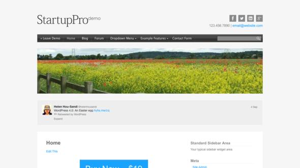Startup – Responsive WordPress Theme