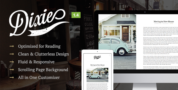 Dixie – A Responsive WordPress Blog Theme