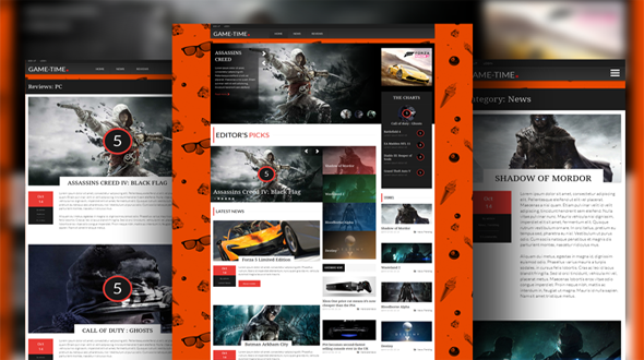 Gametime Responsive WordPress Magazine Theme