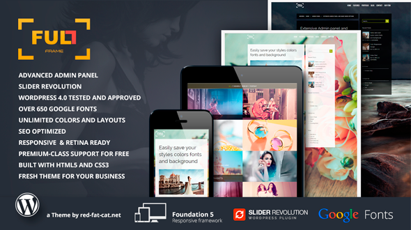 Full Frame – Responsive WordPress Theme