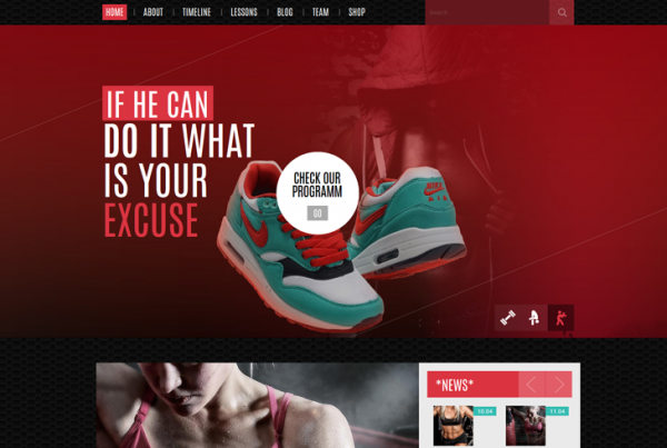 Sportify – Gym/Fitness WordPress Theme