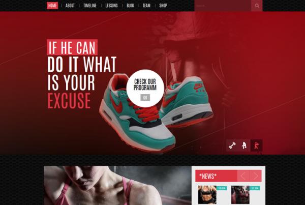 Sportify – Gym/Fitness WordPress Theme
