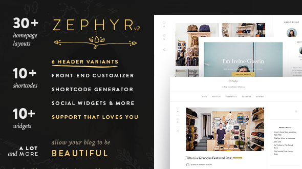 Zephyr – A WordPress Blog Focusing on Beauty