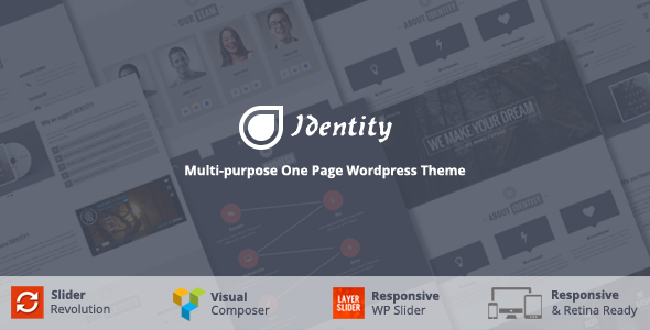 Identity – Multi/One-Page Business WordPress Theme