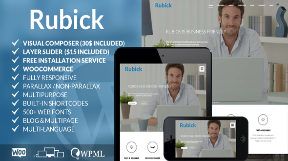 Rubick – Responsive Multipurpose WordPress Theme