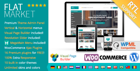 FlatMarket – Multi-Purpose WooCommerce theme + RTL