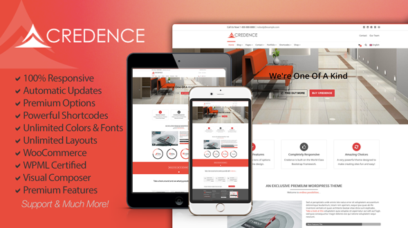 Credence – A Wonderful Multi-Purpose WordPress Theme